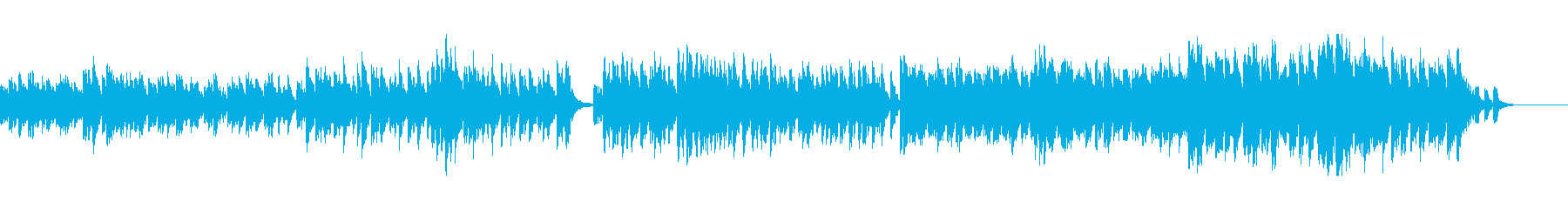 夏の切なさをイメージしたBGMの再生済みの波形