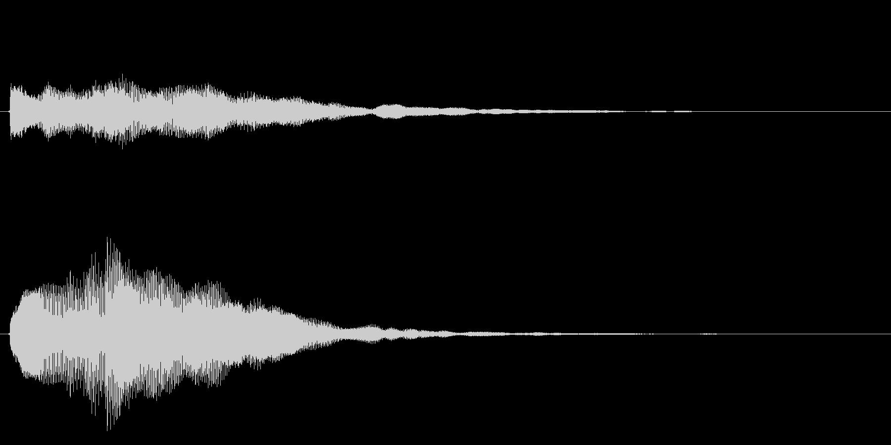 キラキラしたベルの上昇音2の未再生の波形