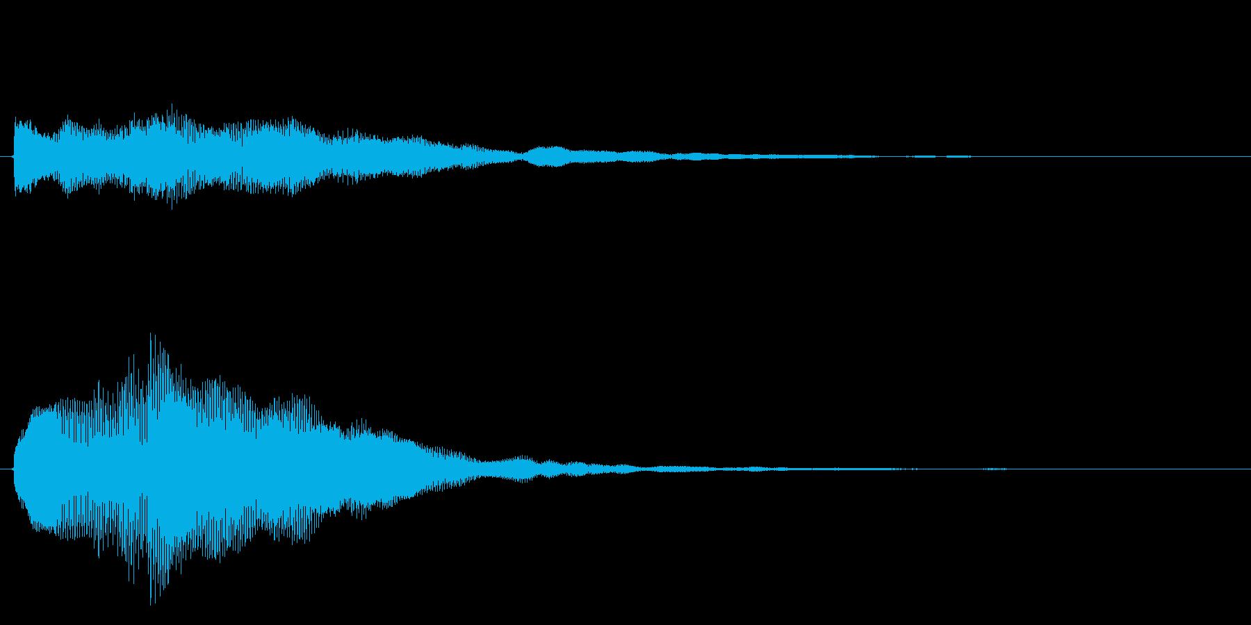 キラキラしたベルの上昇音2の再生済みの波形
