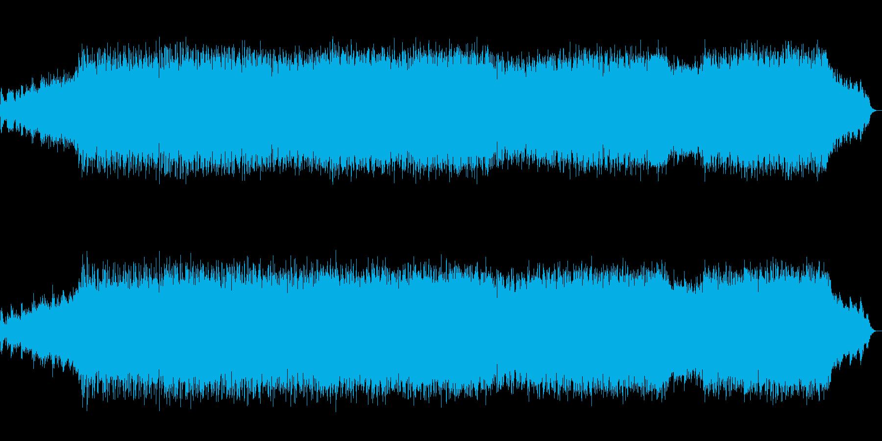 生演奏バイオリンの近未来的ドラムンベースの再生済みの波形