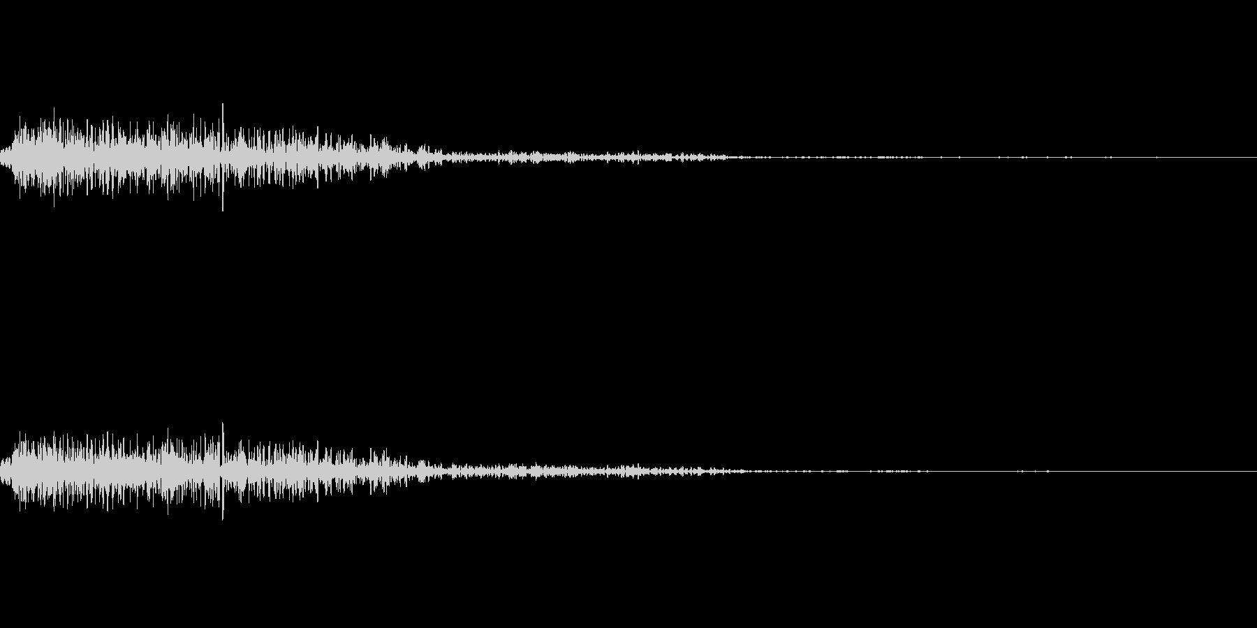 爆弾の爆発音の未再生の波形