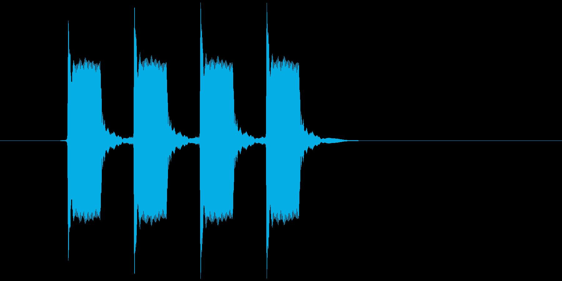 ピピピピッ(目覚まし時計、アラーム)の再生済みの波形