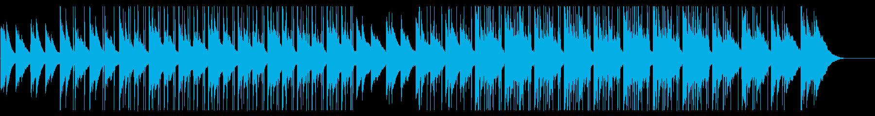 エレピとギターのメロウな雰囲気のBGMの再生済みの波形