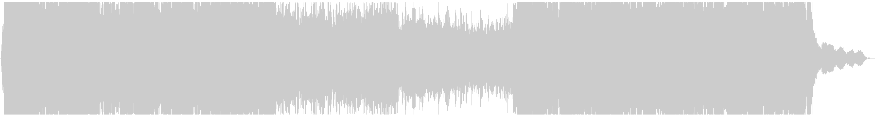 ハリウッド風3拍子のシネマティック曲の未再生の波形