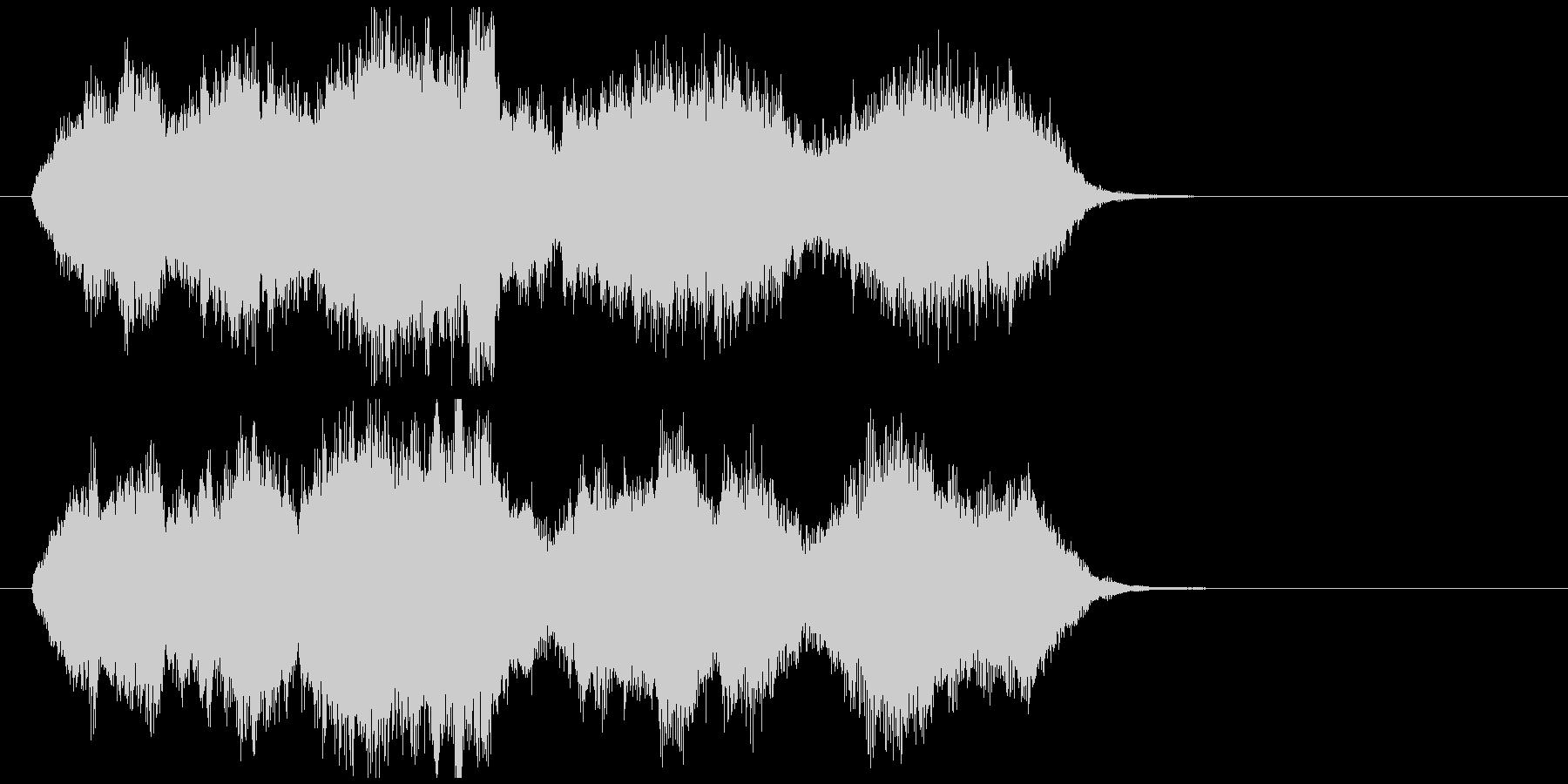 切なくて感動系のオーケストラジングルの未再生の波形