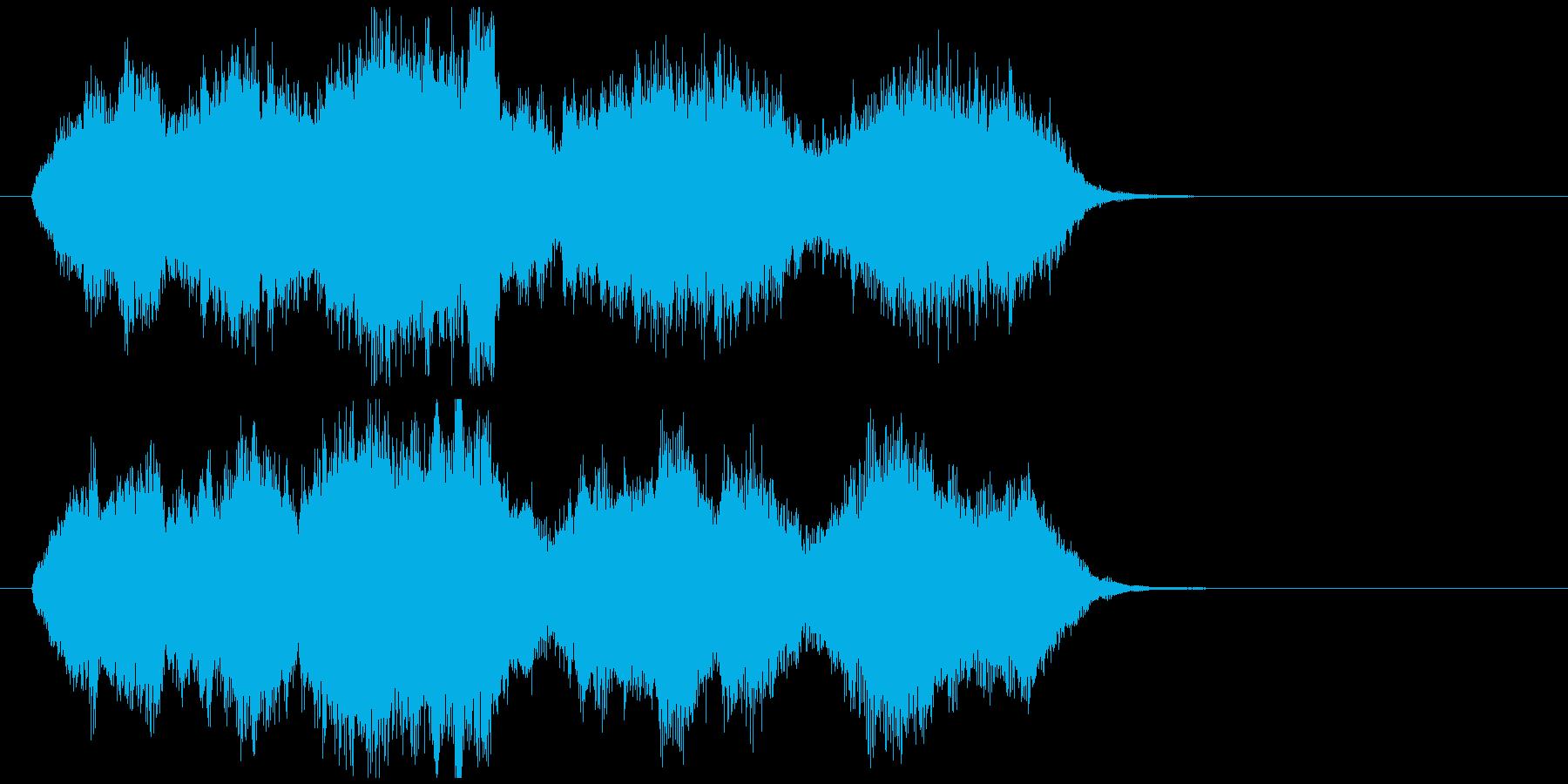 切なくて感動系のオーケストラジングルの再生済みの波形