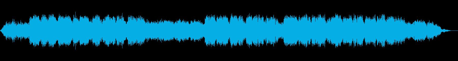 生演奏のケーナの穏やかなヒーリング音楽の再生済みの波形