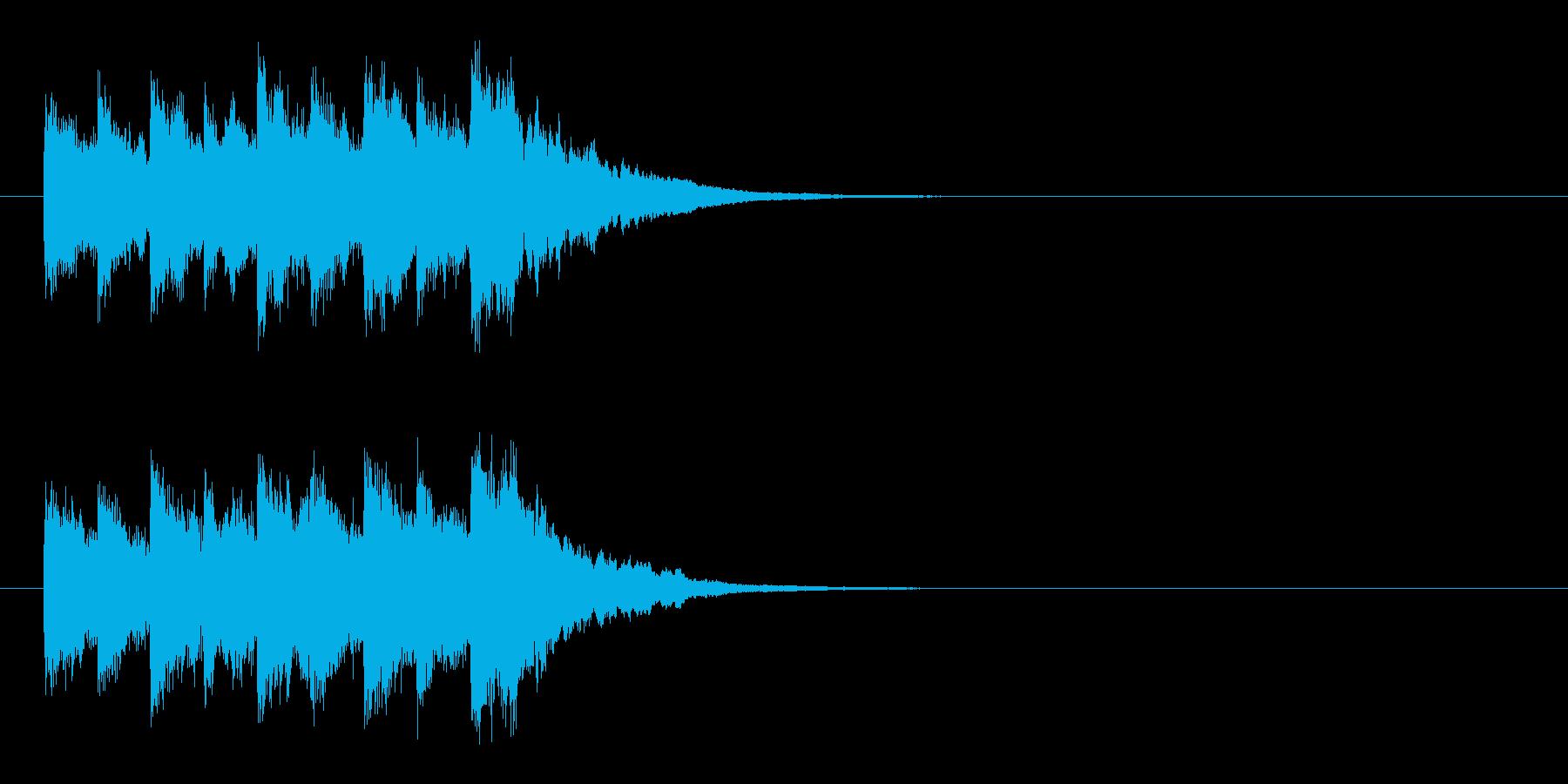 ジングル(ベルの音)の再生済みの波形