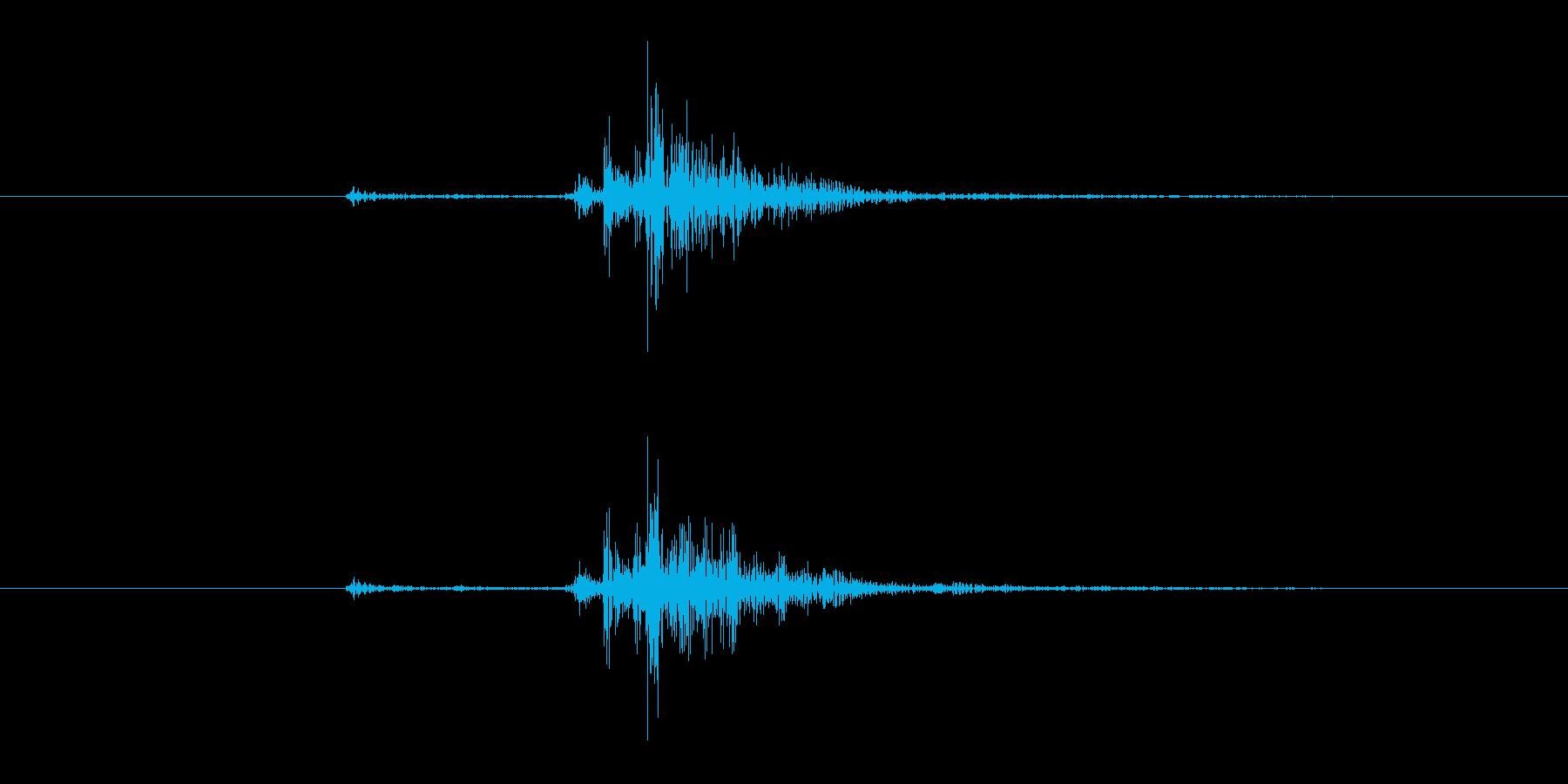 カセットテープを振った時の音 短めの再生済みの波形