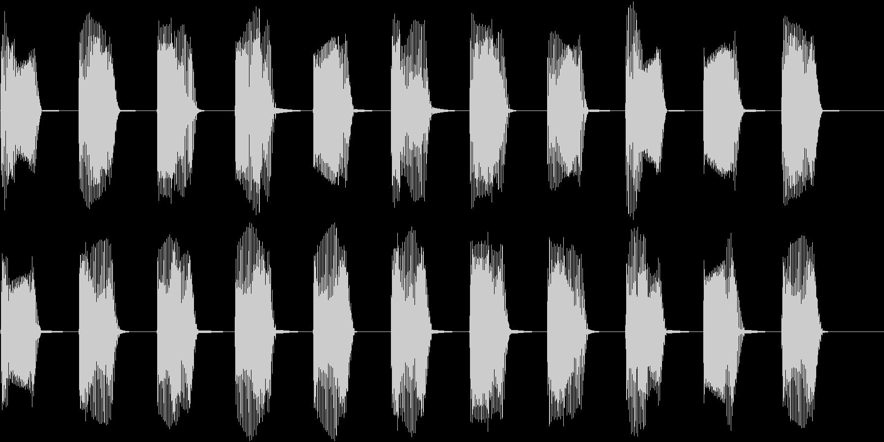 レトロなインベーダーゲームの音01の未再生の波形