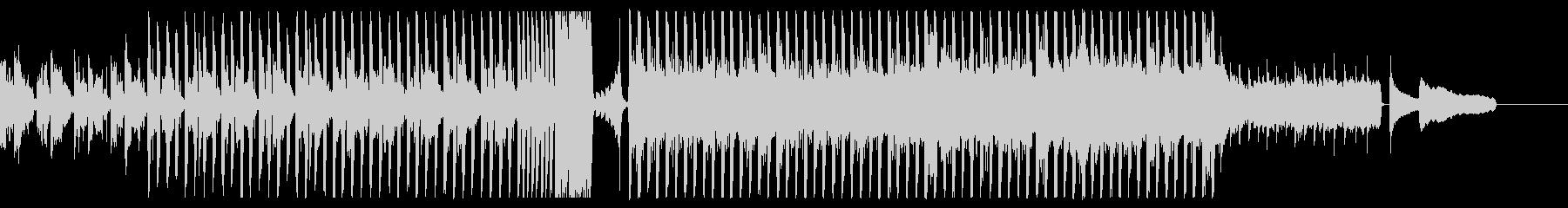 ピアノとシンセの明るいテクノポップBGMの未再生の波形