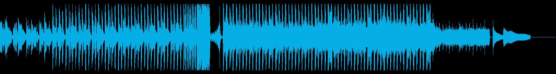 ピアノとシンセの明るいテクノポップBGMの再生済みの波形