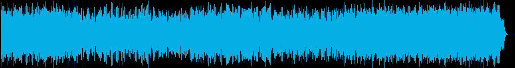 明るい曲調の絶えないポップスの再生済みの波形