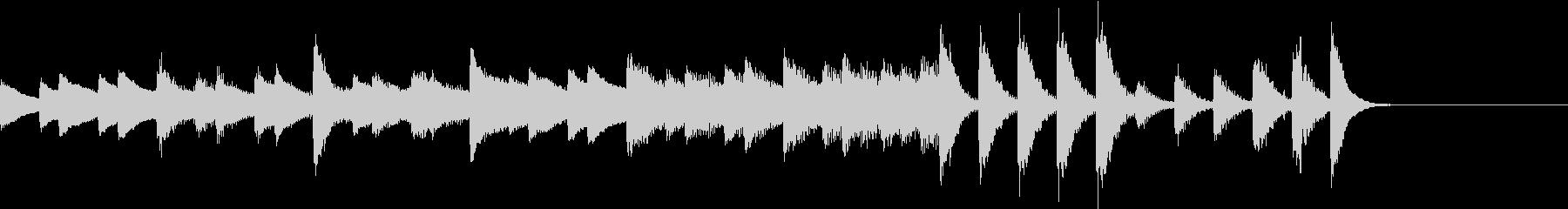 パルスモーション的クールなピアノジングルの未再生の波形