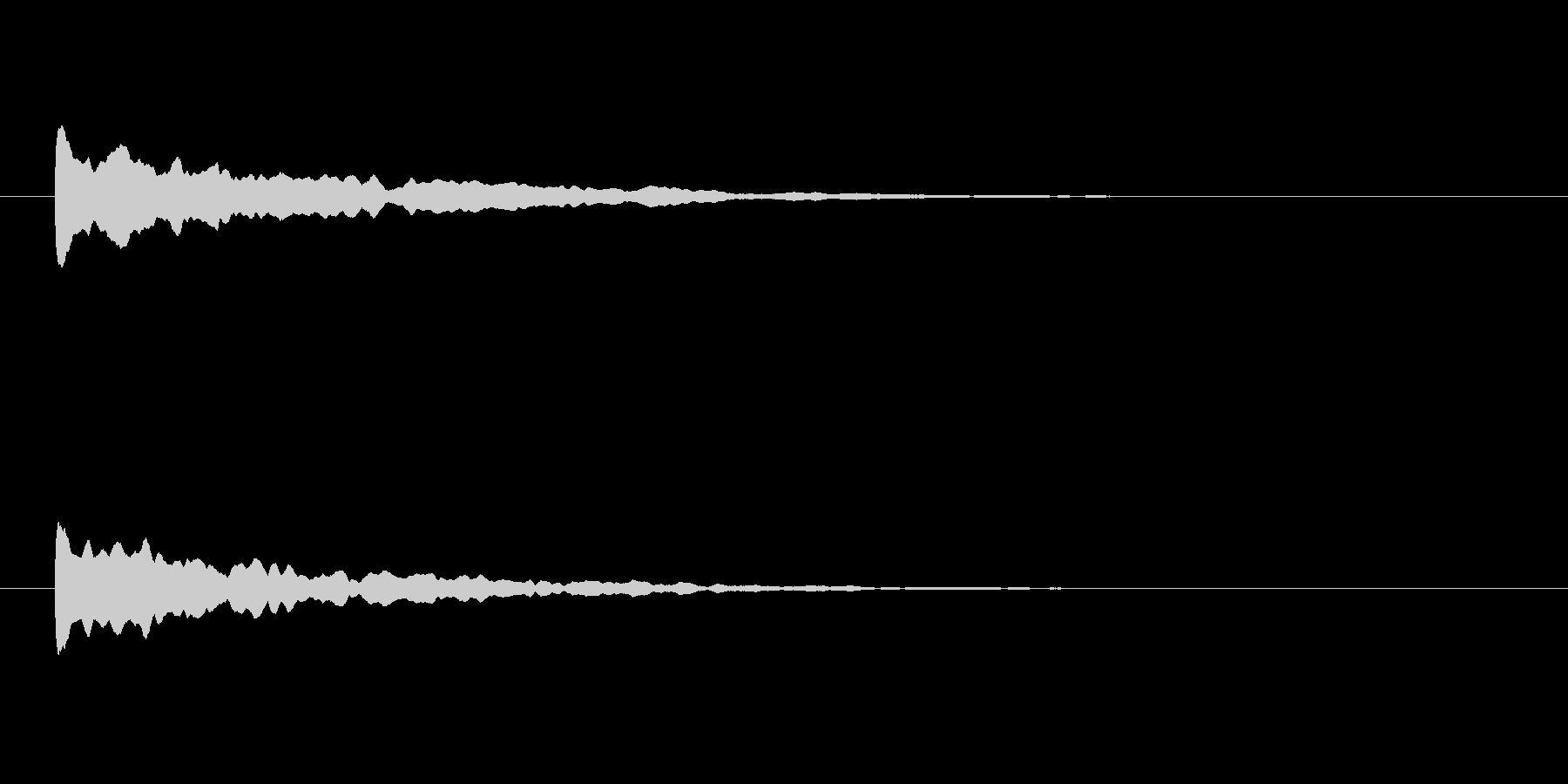【アクセント29-1】の未再生の波形