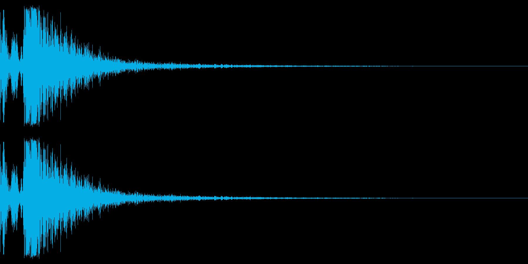 軽めのパコッという余韻短めの木の音ですの再生済みの波形