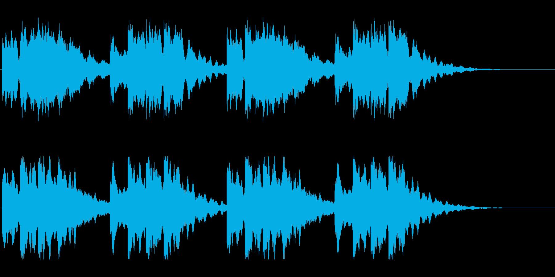 キーンコーンカーンコーン04(通常2回)の再生済みの波形