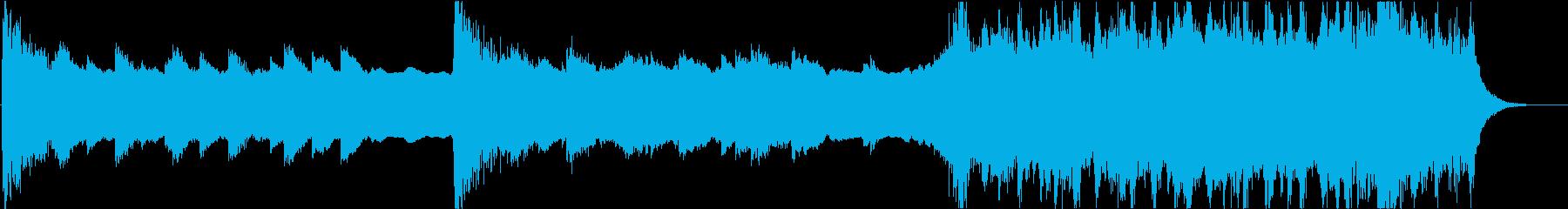 トランペットを使用した雄大で感動的な曲の再生済みの波形