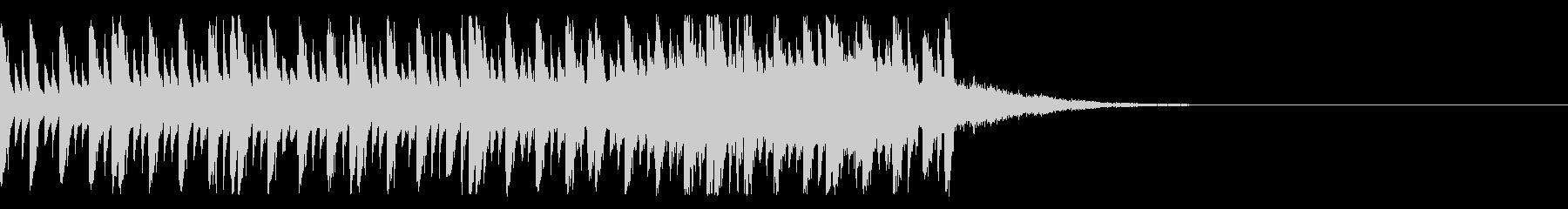 クイズのシンキングタイムのようなEDMの未再生の波形