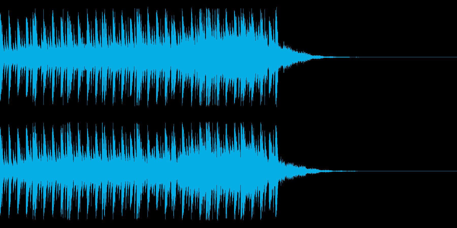クイズのシンキングタイムのようなEDMの再生済みの波形