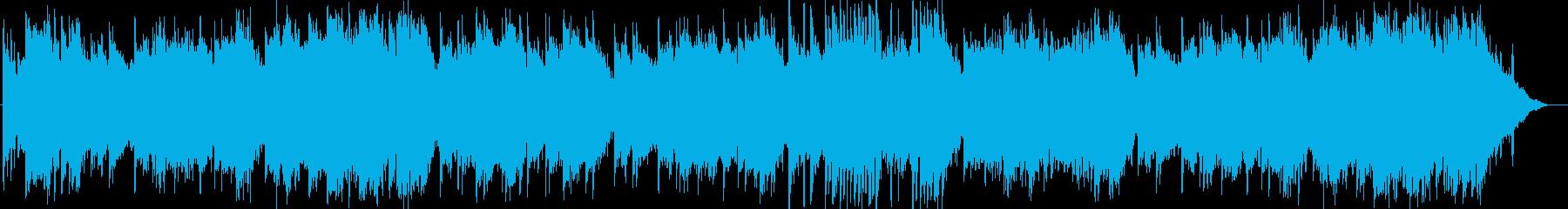 田園風イメージのスローワルツの再生済みの波形