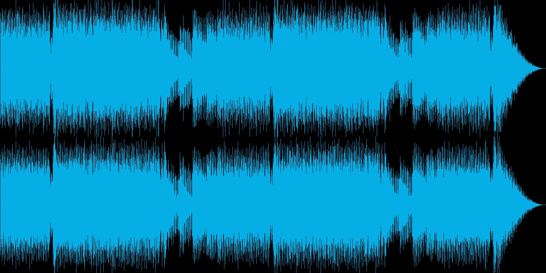 疾走感と躍動感のあるテクノサウンドの再生済みの波形