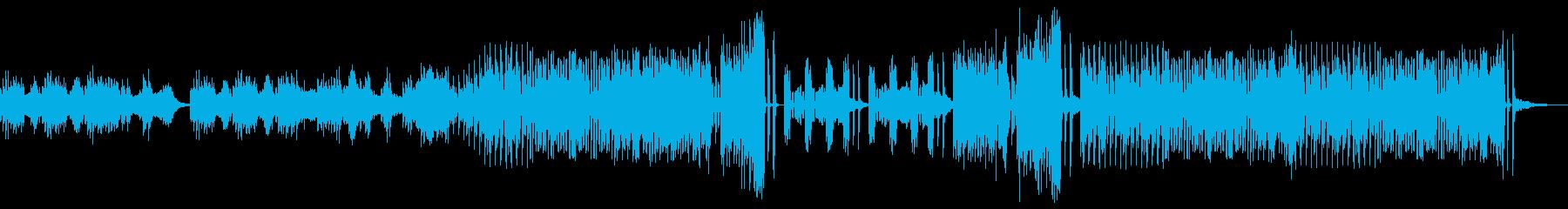 浮遊感がある優しいBGMの再生済みの波形