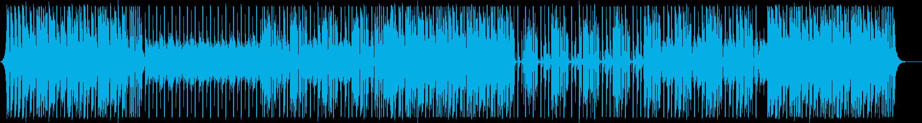 上がるナイルロジャース系ディスコ曲の再生済みの波形