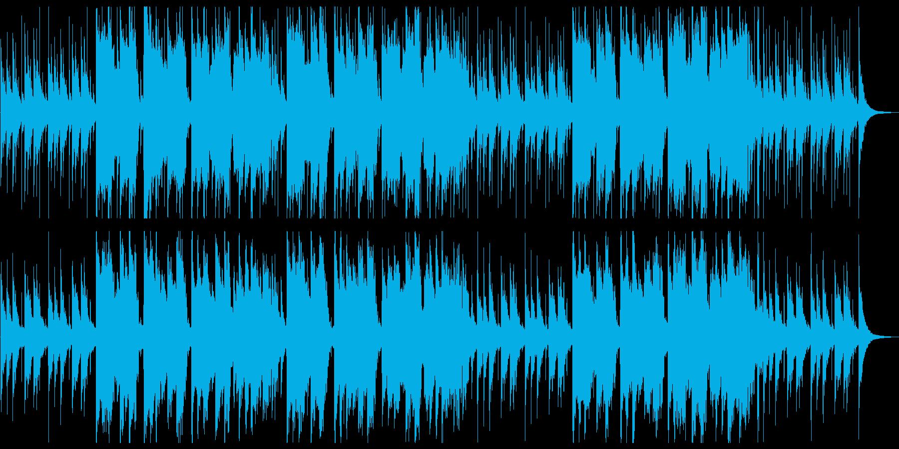 笛がメインの明るく賑やかな和風楽曲の再生済みの波形