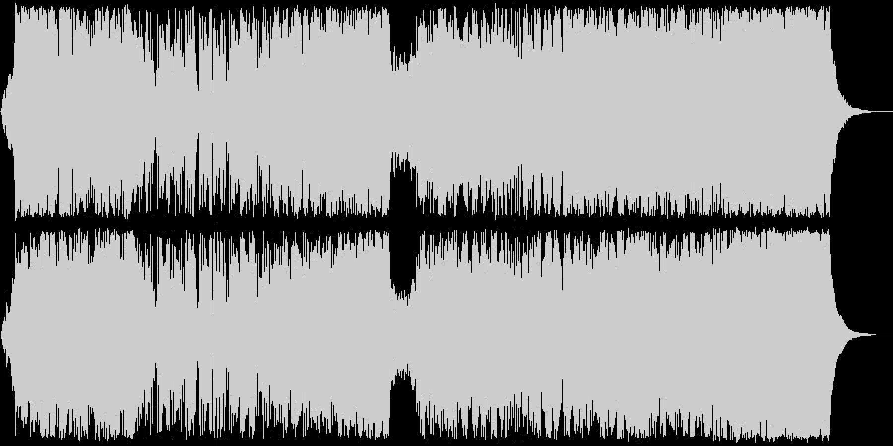 スピーディーでキャッチ―なシンセポップスの未再生の波形
