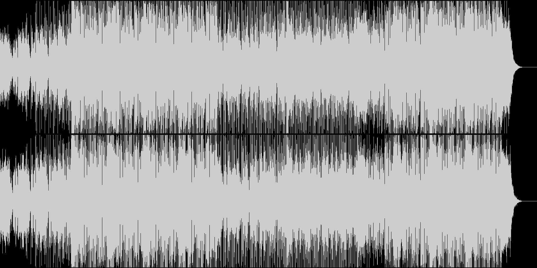 緊迫感のあるヒップホップBGMの未再生の波形
