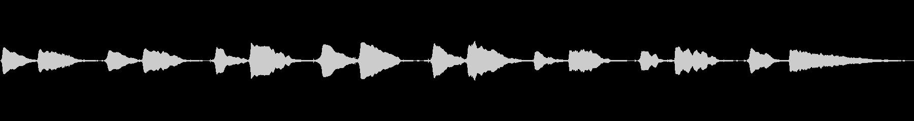 サックス一本の美しい曲です。の未再生の波形