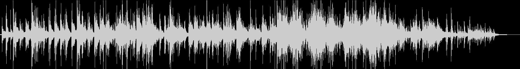 おだやかなピアノソロのインストの未再生の波形