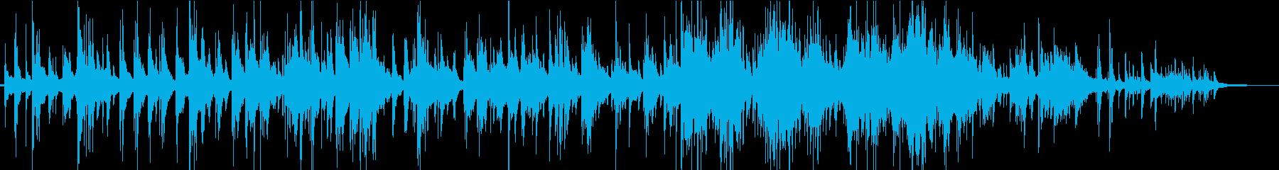 おだやかなピアノソロのインストの再生済みの波形
