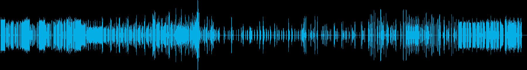 ロボットの誤作動音の再生済みの波形