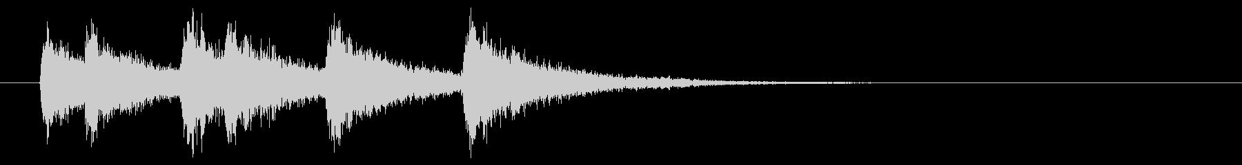 シンプルなオケヒのジングルの未再生の波形