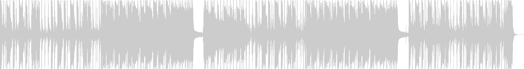 重低音がメリハリあるメロディーの未再生の波形