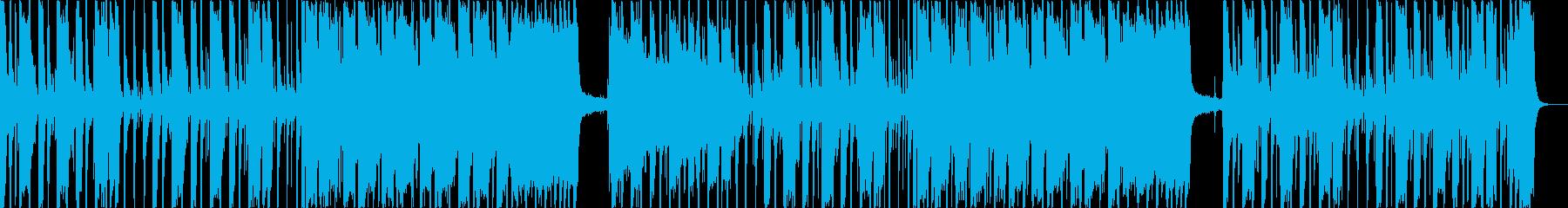 重低音がメリハリあるメロディーの再生済みの波形