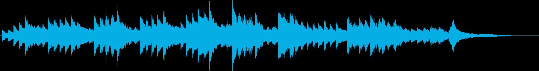 秋の風景を描いた超メロウなピアノジングルの再生済みの波形