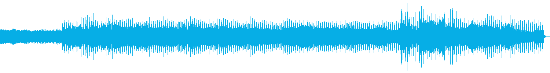 ダークビートによる踊れるクラブチューンの再生済みの波形