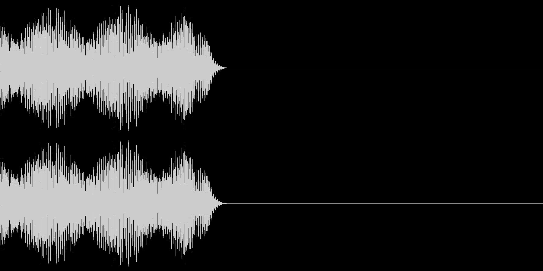 ゲーム等の禁止音「ブッ」 高めの音程の未再生の波形