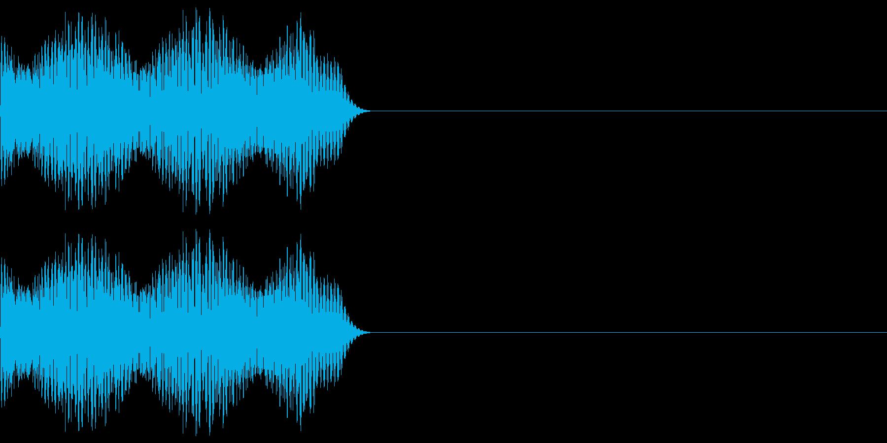 ゲーム等の禁止音「ブッ」 高めの音程の再生済みの波形