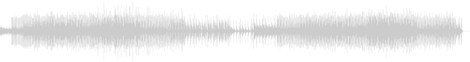 悲しげな音とロック構成で作られたテクノの未再生の波形