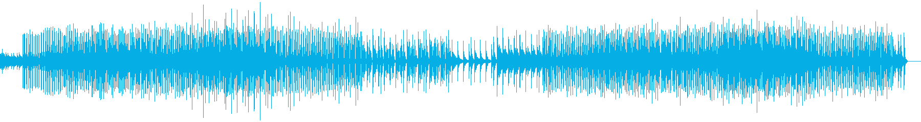 悲しげな音とロック構成で作られたテクノの再生済みの波形