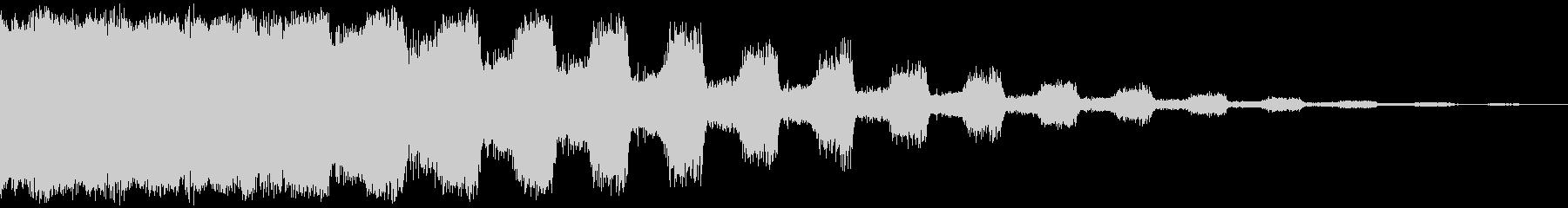 パルセーター旋回の未再生の波形