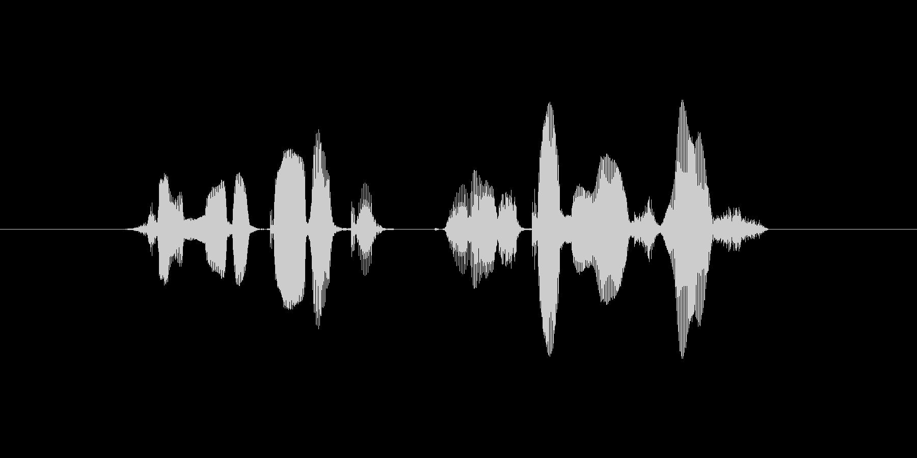 チャンネル登録よろしくお願いします!の未再生の波形