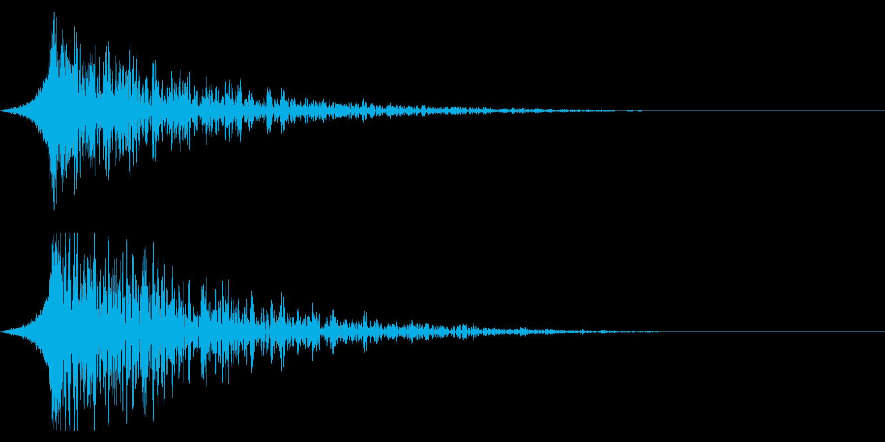 シュードーン-19-3 (インパクト音)の再生済みの波形