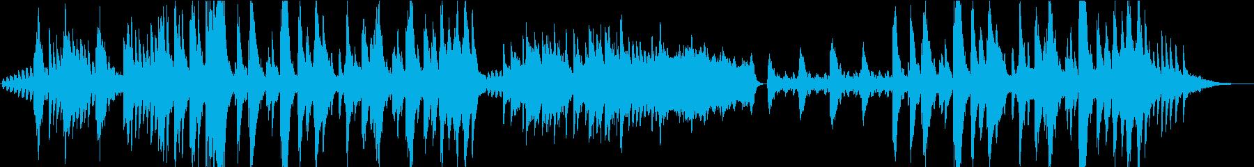 サスペンスなどのシリアスなシーンにの再生済みの波形