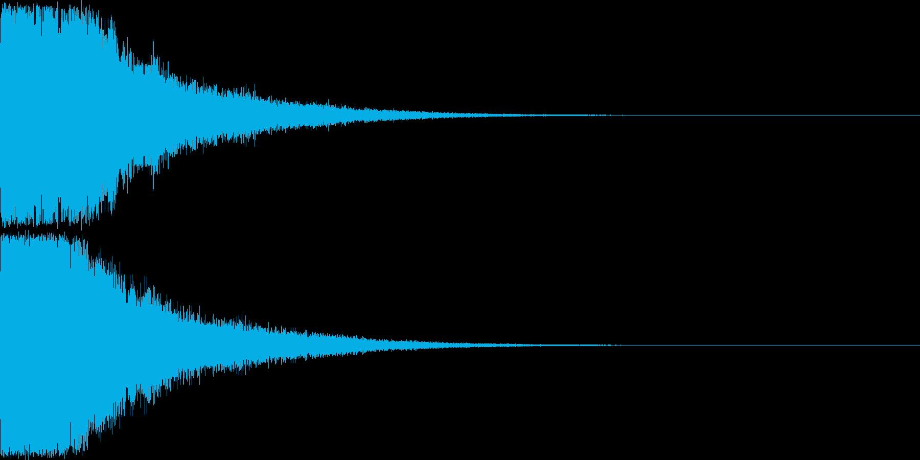刀 剣 ソード カキーン キュイーン32の再生済みの波形