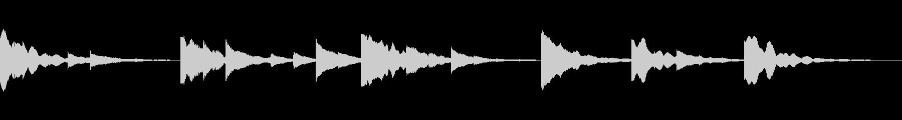 シンプルなピアノのジングルです。の未再生の波形